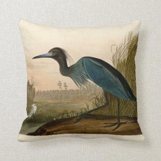 Oiseaux bleus de héron de grue d'Audubon de l'Amér Oreiller