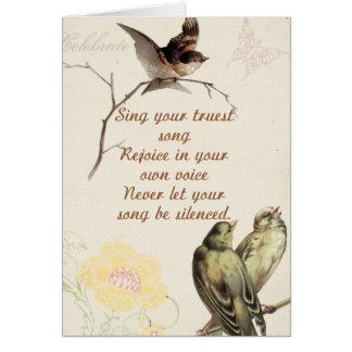 Oiseaux de motivation de chanson