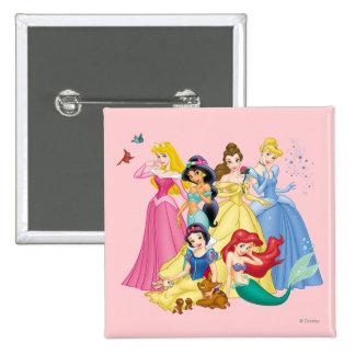 Oiseaux et animaux de la princesse | de Disney Macaron Carré 5 Cm