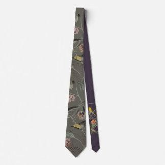 Oiseaux vintages élégants 2,0 cravate