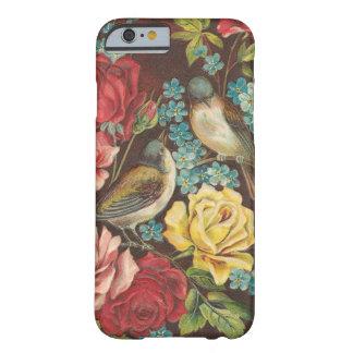 Oiseaux vintages et fleurs coque iPhone 6 barely there