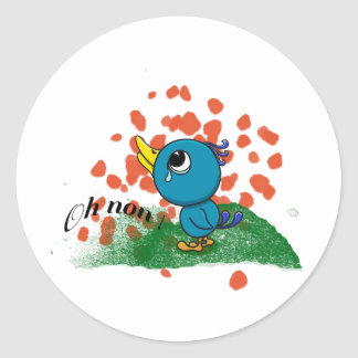 Oisillon pleureur round sticker
