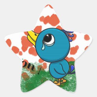 Oisillon pleureur star sticker