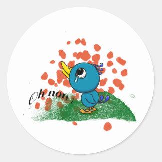 Oisillon pleureur round stickers