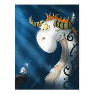 Oisín and the Dragon Photo Print
