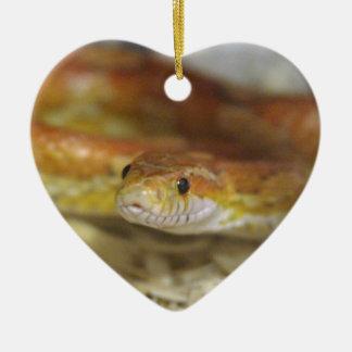 oj the snake ceramic heart ornament