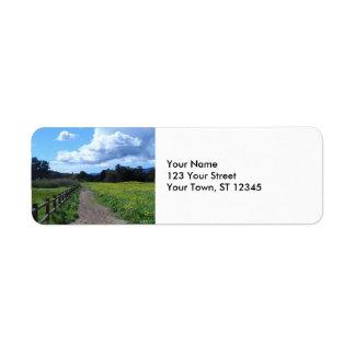 Ojai Meadows Return Address Label