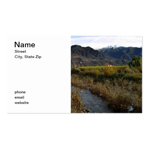 Ojai Valley Business Cards
