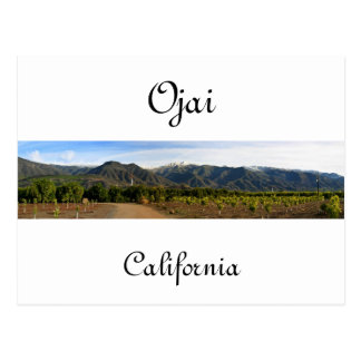 Ojai Valley With Snow Postcard