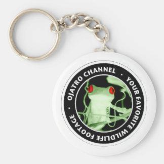 Ojatro Tree Frog Basic Round Button Keychain
