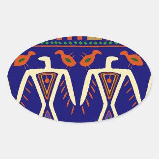 Ojibway Eagles Oval Sticker