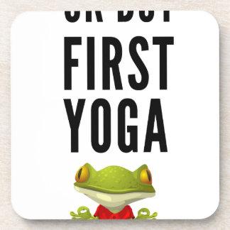 Ok But First Yoga Coaster