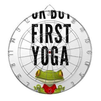 Ok But First Yoga Dartboard
