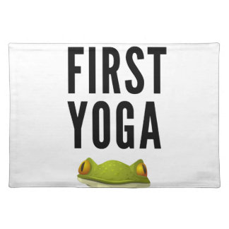 Ok But First Yoga Placemat