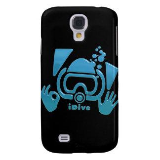 OK iDive Beveled Blu Scuba Galaxy S4 Cover