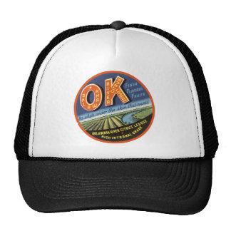 OK Oklawaha River Citrus League Label Trucker Hat