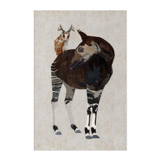 OKAPI & ANTLER  OWL ACRYLIC PRINT
