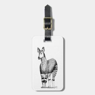 Okapi Art Luggage Tag