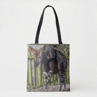 Okapi at the zoo all-over-print tote bag