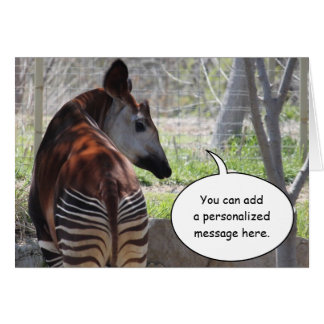 Okapi Butt Greeting Card
