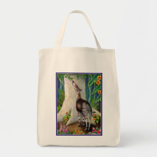Okapi in Rainforest Tote Bag