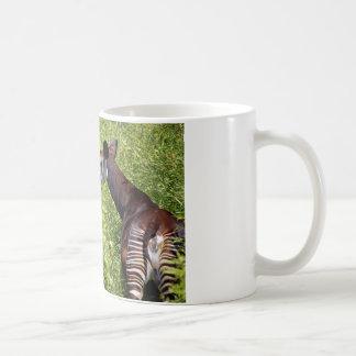 Okapi in the vegetation coffee mug