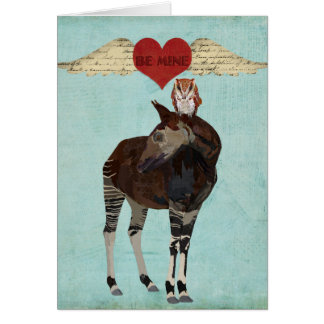 OKAPI & OWL BE MINE Card