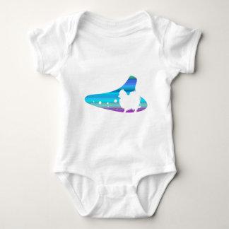 okarinashiruetsutoho ゚ meranian baby bodysuit