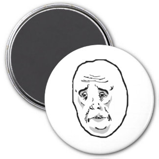 Okay Guy Rage Face Meme 3 Inch Round Magnet