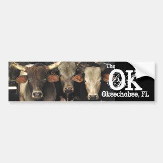 Okechobee Florida The OK Beef Cattle Cows Sticker Bumper Sticker