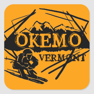 Okemo Vermont orange ski mountain stickers