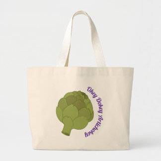 Okey Dokey Artichokey Large Tote Bag