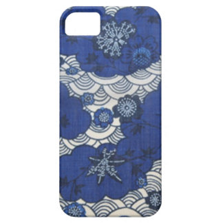 Okinawa kimono pattern in blue iPhone 5 cases