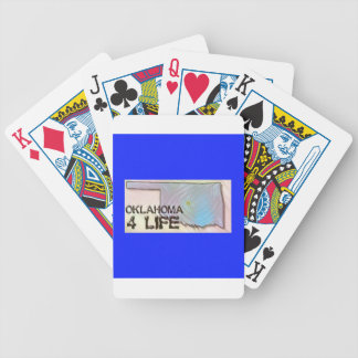 """Oklahoma 4 Life"" State Map Pride Design Bicycle Playing Cards"