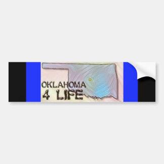 """""""Oklahoma 4 Life"""" State Map Pride Design Bumper Sticker"""