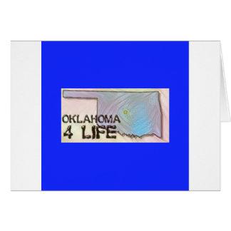 """Oklahoma 4 Life"" State Map Pride Design Card"