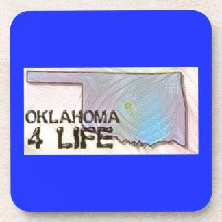 """Oklahoma 4 Life"" State Map Pride Design Coaster"