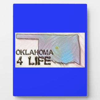 """Oklahoma 4 Life"" State Map Pride Design Plaque"
