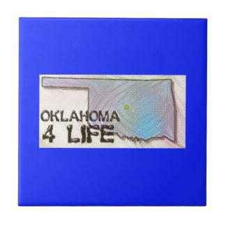 """Oklahoma 4 Life"" State Map Pride Design Tile"
