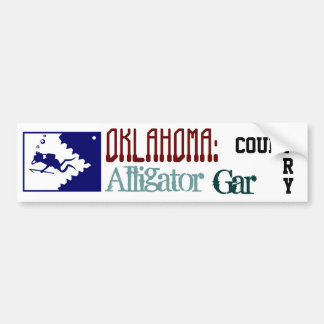OKLAHOMA: Alligator Gar Country Bumper Sticker