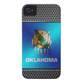 Oklahoma brushed metal flag Case-Mate iPhone 4 cases