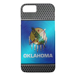 Oklahoma brushed metal flag iPhone 7 case