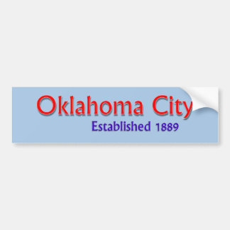 Oklahoma City Established Vehicle Bumper Sticker