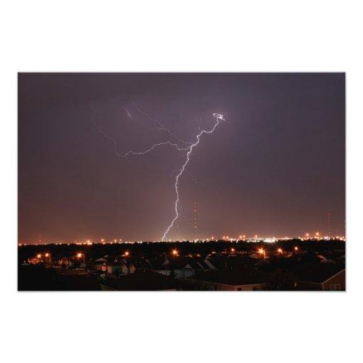 Oklahoma City Lightning Photo Art