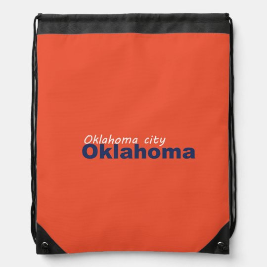 Oklahoma City, Oklahoma Drawstring Backpack