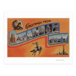 Oklahoma City, Oklahoma - Large Letter Scenes Postcards
