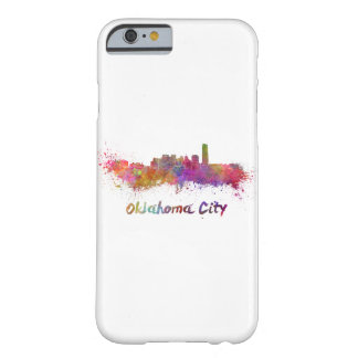 Oklahoma City skyline in watercolor Barely There iPhone 6 Case
