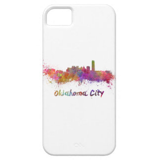 Oklahoma City skyline in watercolor iPhone 5 Case