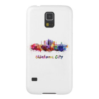 Oklahoma City V2 skyline in watercolor Galaxy S5 Case