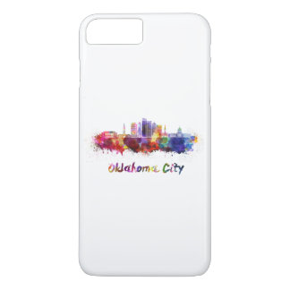 Oklahoma City V2 skyline in watercolor iPhone 7 Plus Case